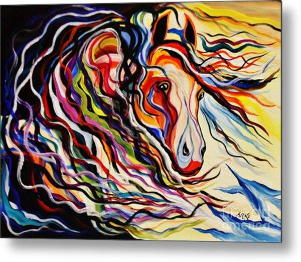 Red Wind Wild Horse Metal Print
