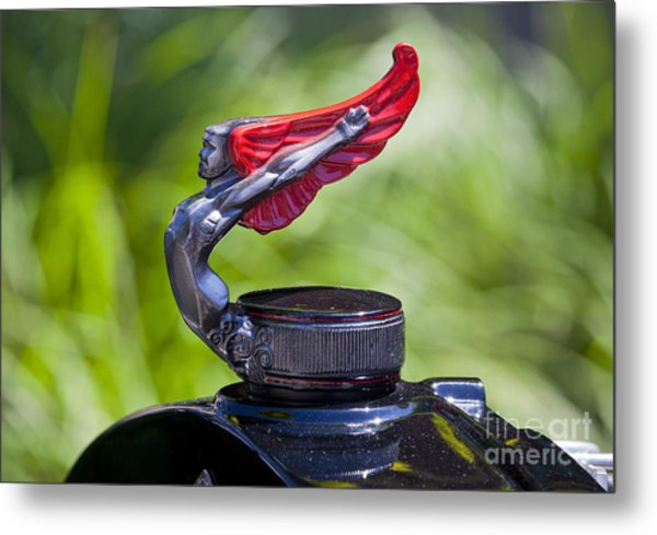 Red Wings Hood Ornament Metal Print