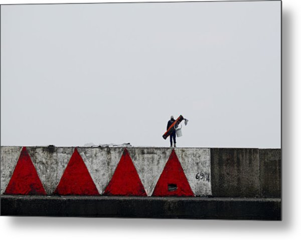Red With Red Metal Print