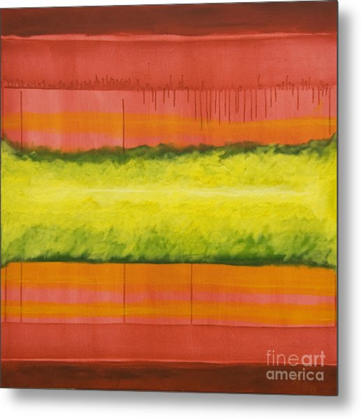 Red Yellow And Green Metal Print