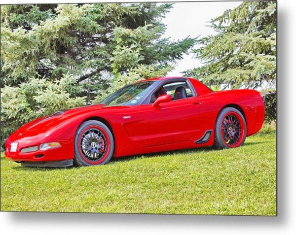 Red Z06 C5 Corvette Metal Print