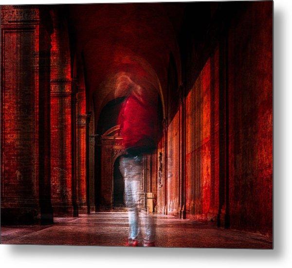Redfluid Metal Print by Carmine Chiriac??