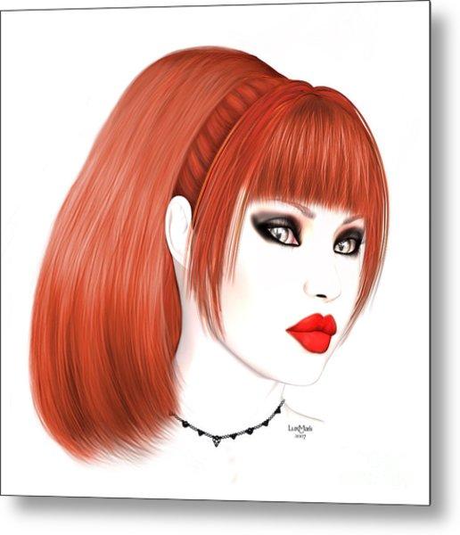 Redhead Cassia Metal Print