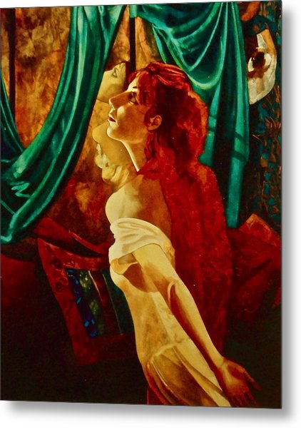 Redhead In The Mirror Metal Print by Susan Tammany