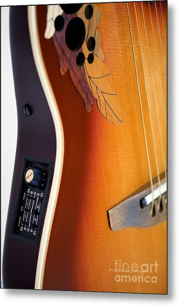 Redish-brown Guitar Metal Print