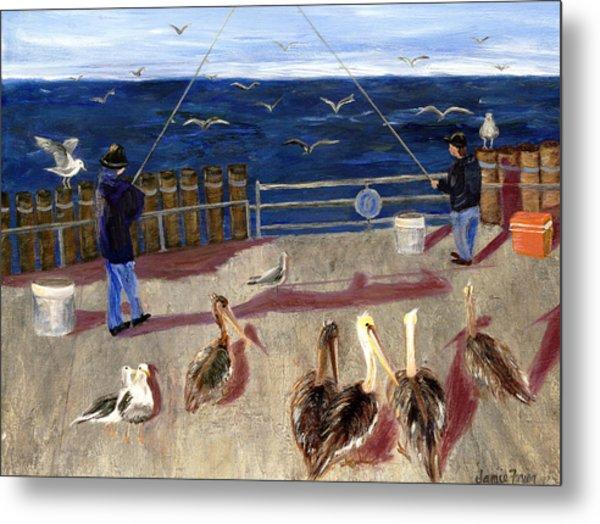 Redondo Beach Pelicans Metal Print