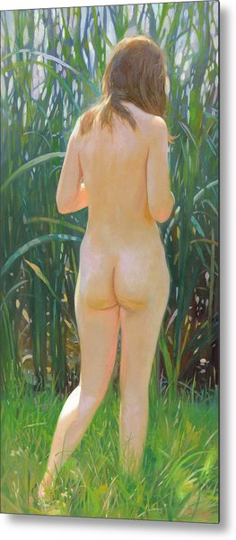 Metal Print featuring the painting Reed by Denis Chernov