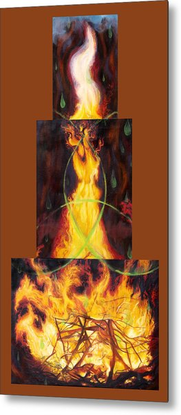 Refiners Fire Metal Print