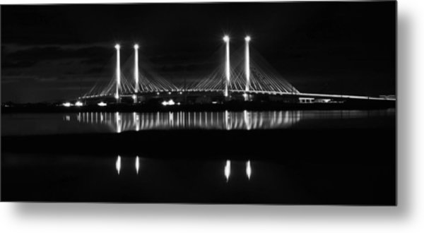 Reflecting Bridge Metal Print