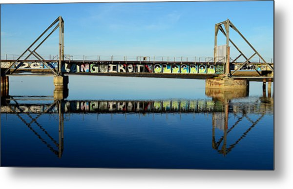 Reflecting History Metal Print