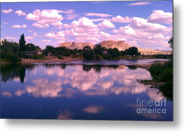 Reflecting On Green River Metal Print