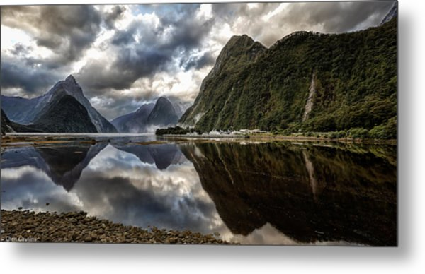 Reflecting On Milford Metal Print