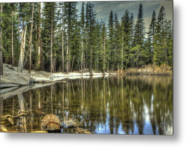 reflecting pond Carson Spur Metal Print