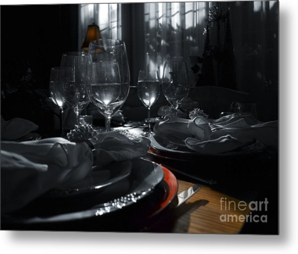 Reflecting Thanksgiving Metal Print