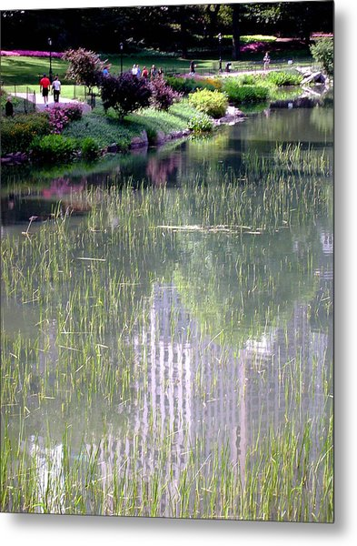 Reflection And Movement Metal Print