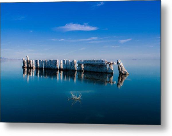 Reflection At Salton Sea Metal Print