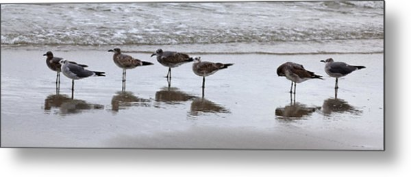 Reflection At The Beach Metal Print
