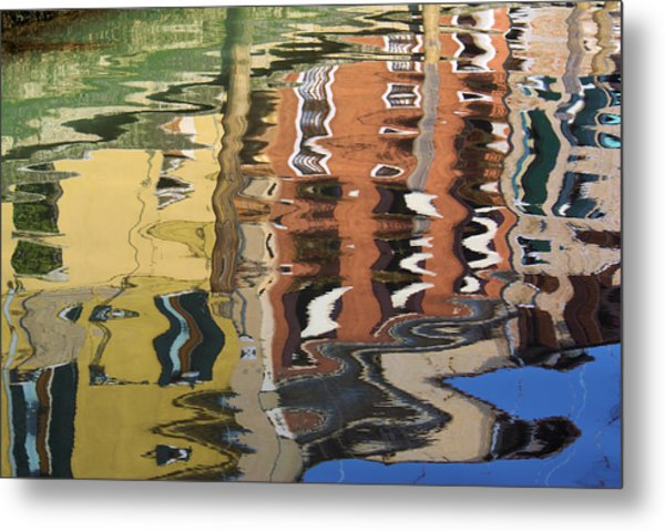 Reflection In A Venician Canal Metal Print