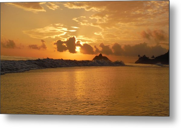 Reflection In The Sand 3 Metal Print by Bill Reynolds