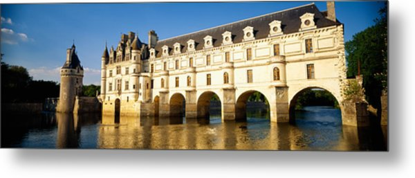Reflection Of A Castle In Water Metal Print