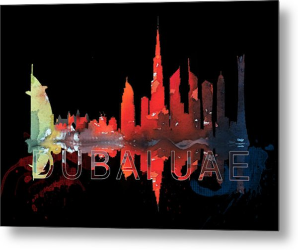 Reflection Of The City At Night Metal Print