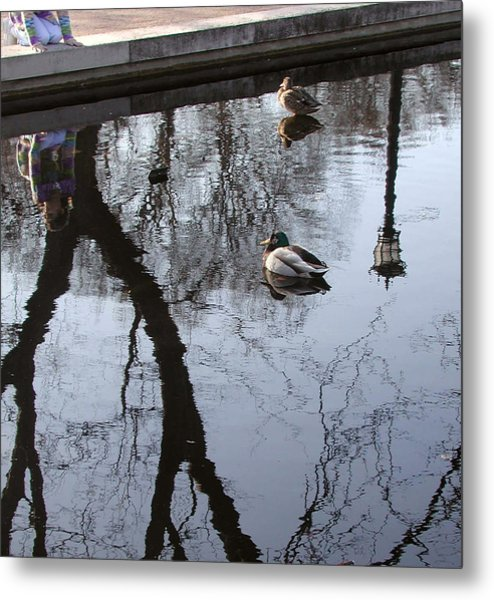 Reflection Of The Watcher Metal Print by Jack Adams