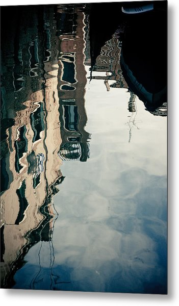 Metal Print featuring the photograph Reflection Of Venice On Grand Canal Italy by Raimond Klavins