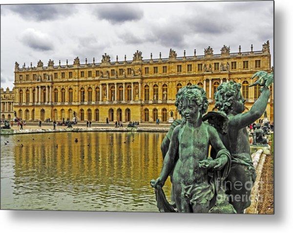 Reflection Pool Of Versailles Metal Print