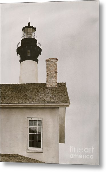 Reflections At Bodie Light Metal Print
