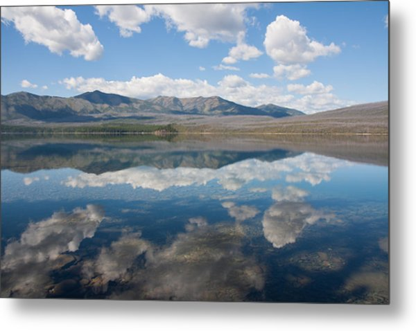 Reflections At Glacier National Park Metal Print