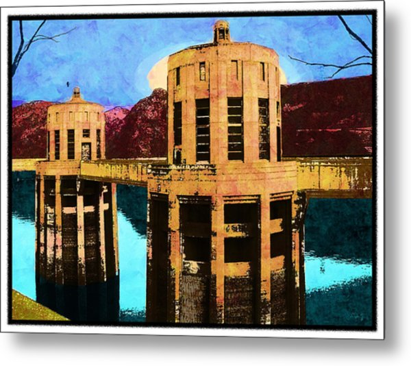 Reflections At Hoover Dam Metal Print