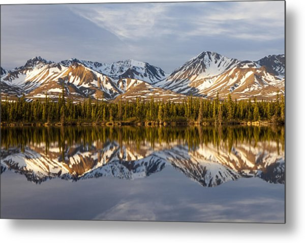 Reflections In Alaska Metal Print by Javier Fores