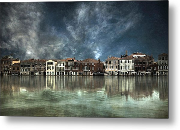 Reflections In Venice Metal Print by Nieves. Bautista