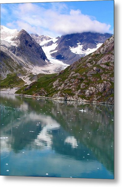 Reflections Of Blue And Green In Alaska Metal Print