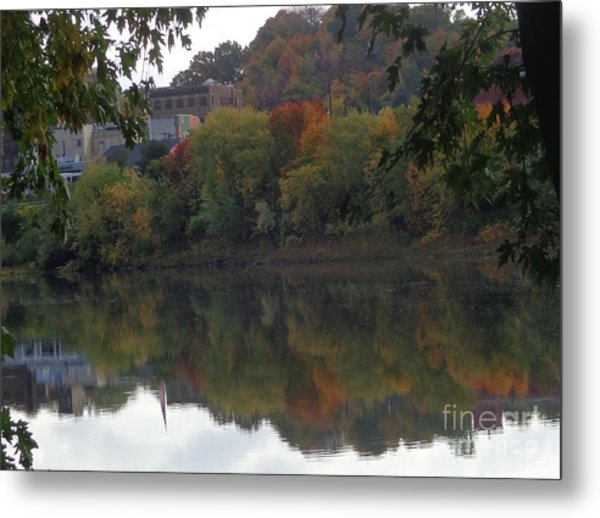 Reflections Of Pittston Metal Print