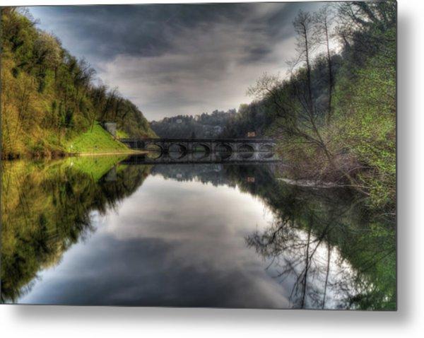 Reflections On Adda River Metal Print