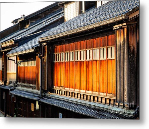 Reflections On Geisha Houses - Kanazawa City - Japan Metal Print