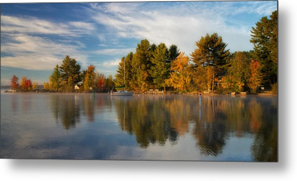Reflections On Long Lake Metal Print
