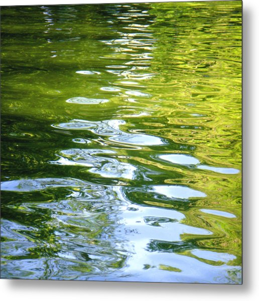 Reflections On Madrid Metal Print