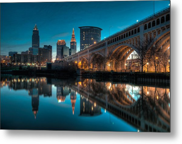 Reflections On The Cuyahoga Metal Print
