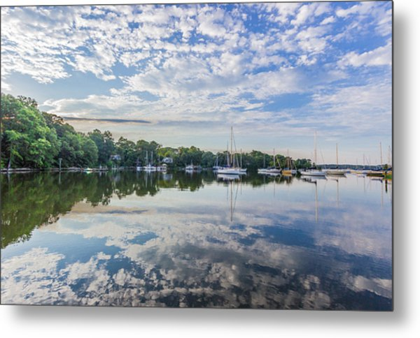 Reflections On The Magothy River Metal Print