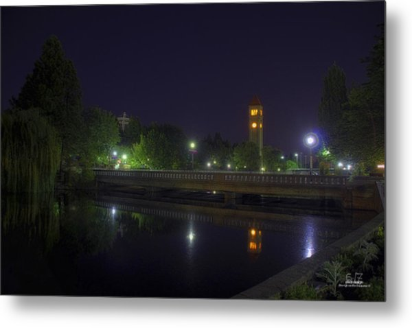 Reflective Calm Metal Print by Dan Quam