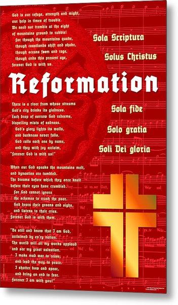 Reformation Metal Print