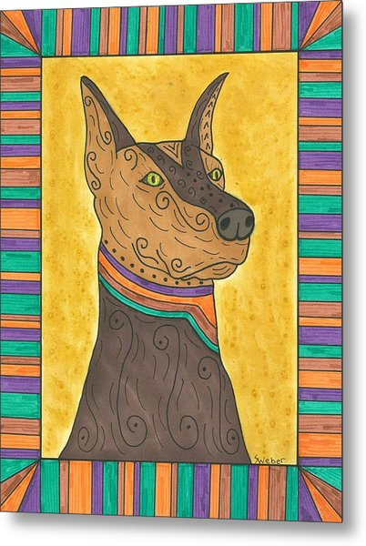 Regal Doberman Metal Print