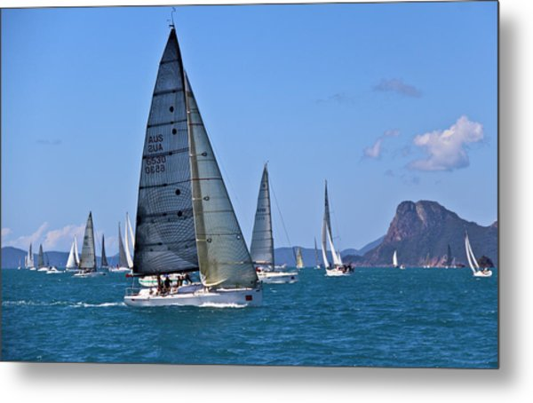 Metal Print featuring the photograph Reggata by Debbie Cundy