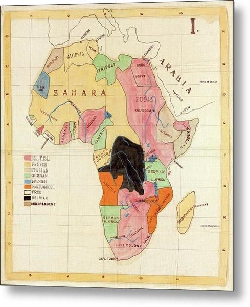Regions Of Africa Metal Print