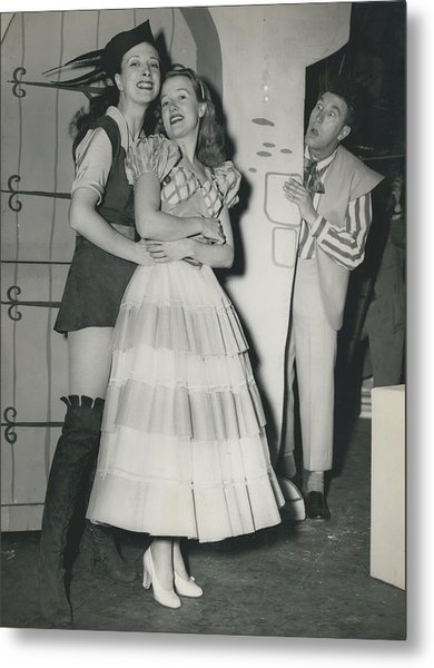 Rehearsal For ``dick Whittington� At The Palladium Metal Print by Retro Images Archive