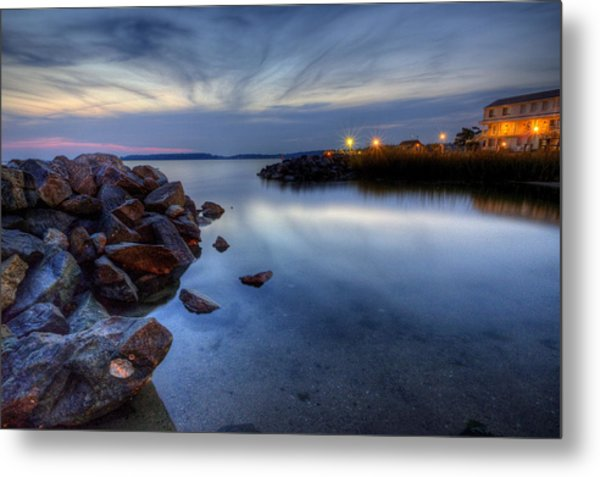Rehoboth Bay Sunset At Dewey Beach Metal Print