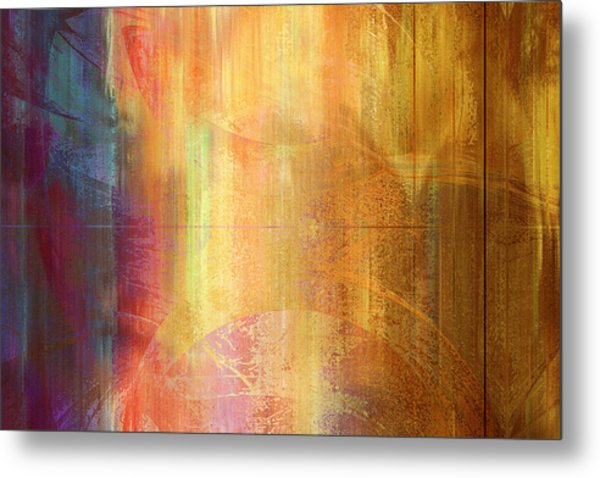 Reigning Light - Abstract Art Metal Print