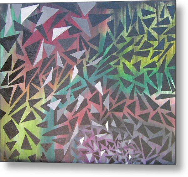 Reigning Triangles Metal Print